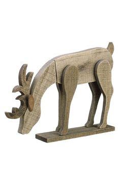ALLSTATE Wood Reindeer Figurine