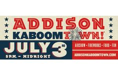 Addison Texas - Kaboomtown! 2015 tickets are not needed but you should get there early! Food fun and fireworks!