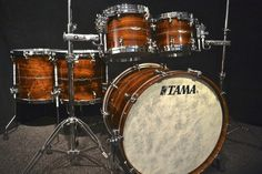 Tama Drums Sets Star Series Bubinga 5 Piece Natural Indian Laurel w Inlays