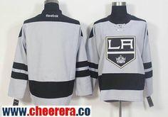 Men's Los Angeles Kings Blank Gray Alternate Stitched NHL 2016-17 Reebok Hockey Jersey