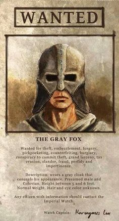 Grey Fox wanted poster