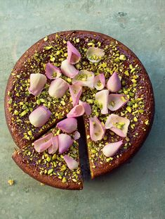 Pear, Pistachio, and Rose Cake From Nigella Lawson's At My Table: A Celebration of Home Cooking
