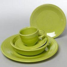 fiestaware five piece place setting - Lemongrass