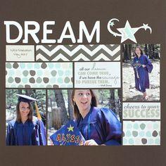Dream Fluffy & Fido/Achievements #Scrapbooking Project Idea from Creative Memories #graduation  http://www.creativememories.com