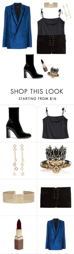 """""""stargirl"""" by itscoralie ❤ liked on Polyvore featuring Oscar Tiye, Arme De L'Amour, Alexander McQueen, Accessorize, Étoile Isabel Marant, Fashion Fair and Haider Ackermann"""