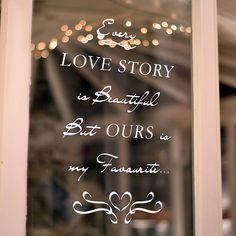 'Love Story' Wall And Window Sticker from notonthehighstreet.com