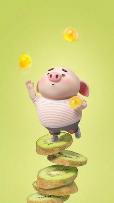 Happy Birthday Pig, Happy Pig, This Little Piggy, Little Pigs, Pig Wallpaper, Cute Piglets, Pig Drawing, Pig Illustration, Pig Art