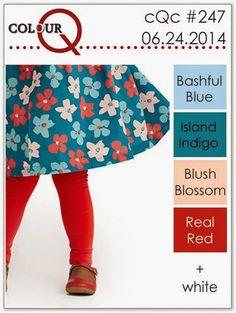 colourQ: colourQ challenge #247...Bashful Blue, Island Indigo, Blush Blossom, Real Red