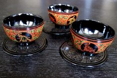Handmade Small Cups Set of 3  tea cup sake cup by RamisCraftHouse