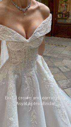 Most Beautiful Wedding Dresses, Cute Wedding Dress, Dream Wedding Dresses, Pretty Dresses, Wedding Bride, Bridal Dresses, Strapless Wedding Dresses, Wedding Dress Princess, Bride Party Dress