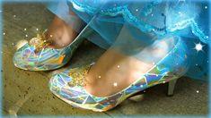 Mark Montano: Cinderella's Glass Slippers DIY Cinderella 2015, Cinderella Play, Cinderella Birthday, Cinderella Shoes, Cinderella Dresses, Diy Cinderella Costume, Disney Princess Costumes, Diy Costumes, Costume Ideas