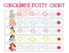 Caroline's potty training chart. Click here to download for free 40 printable potty training reward charts.