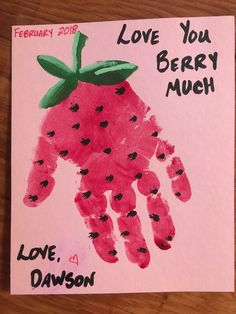 Day preschool Valentines Day craft for kids to parents. Moms and Dads will love getting this . - Valentine crafts for kids - Valentine's Day Crafts For Kids, Valentine Crafts For Kids, Daycare Crafts, Classroom Crafts, Fathers Day Crafts, Baby Crafts, Preschool Crafts, Infant Crafts, Valentine For Dad