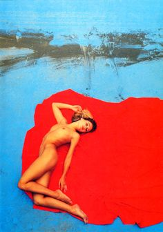 Photo by Franco Fontana Franco Fontana, Jeanne Claude, Album Covers, Lady In Red, Pin Up, Naked, Landscape, Beauty, Color