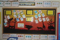 A super Stories from Africa - Handa's Surprise classroom display photo contribution. Great ideas for your classroom! Teaching Displays, Class Displays, School Displays, Photo Displays, Classroom Wall Displays, Classroom Walls, Classroom Themes, Handas Surprise, Kindergarten Social Studies
