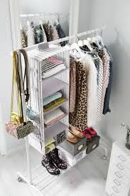 US - Furniture and Home Furnishings Folded shirts and sweaters take up space and can be hard to access in dresser drawers. For extra, easy-access storage for folded clothes, hang storage pockets, like SVIRA, from a clothing rack or closet pole. Hanging Clothes Racks, Diy Clothes Storage, Ikea Storage, Storage Ideas, Clothing Storage, Hanging Closet, Extra Storage, Clothing Racks, Hanging Storage