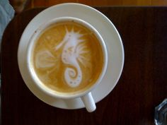 If you have ever tried latte art yourself, you know how well this has been done! : )