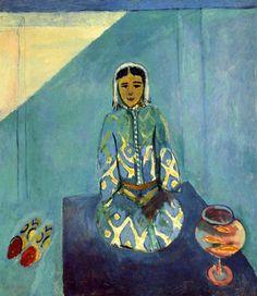Zorah on the Terrace, 1912 by Henri Matisse  #matisse #paintings #art