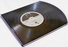 YELLO Fotoalbum, Schallplatte Fotomappe,Vintage, von VinylKunst Aurum - Schallplatten Upcycling der besonderen ART auf DaWanda.com