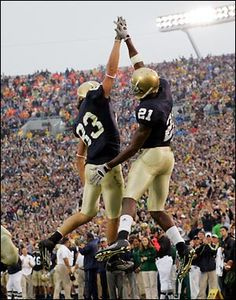 "Jeff Samardzija and Maurice Stovall. Like the Irish? Be sure to check out and ""LIKE"" my Facebook Page https://www.facebook.com/HereComestheIrish Please be sure to upload and share any personal pictures of your Notre Dame experience with your fellow Irish fans!"