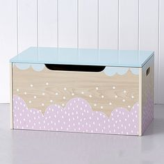 Belle Pink Timber Toy Box
