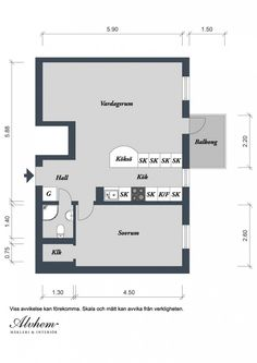 An Inspiring Modern Layout Of Dazzling Apartment Based On Model In Sweden : Plans