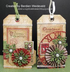 Christmas Tags Graphic 45 by berdienwillem @2peasinabucket