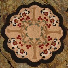 primitive wool applique patterns | ... make a selection pattern $ 8 50 pattern wool felt floss $ 26 50 wool