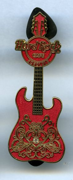 Red or Black Random Colours Rockin/' Guitar Pen with Guitar Solo