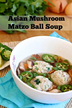 Asian Mushroom Matzo Ball Soup - Could this be anymore perfect for my household tomorrow?!?!
