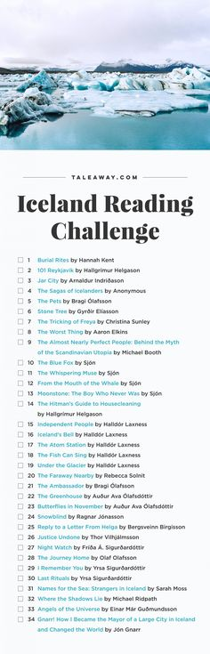 Iceland Reading Challenge, Books Set In Iceland - For more books visit www.taleway.com to find books set around the world. Ideas for those who like to travel, both in life and in fiction. reading challenge, iceland reading challenge, book challenge, books you must read, books from around the world, world books, books and travel, travel reading list, reading list, books around the world, books to read, iceland books, iceland books novels, iceland travel