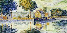 Paul Signac(1863ー1935)「Vue de Siene, Samois」(1899)
