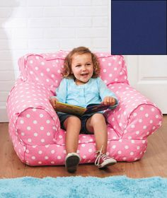 Kids' Beanbag Mi Chair is a soft and squishy armchair sized just for them. The lightweight seat has a handle on the back, making it fun, portable seating for the little kids in your house.