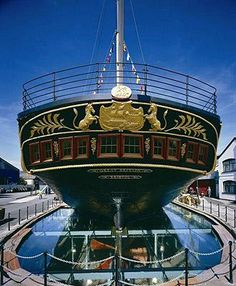 SS Great Britain built in 1843 the first iron hulled trans Atlantic liner