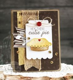 Card by Laurie Schmidlin. Reverse Confetti stamp set: Easy as Pie. Confetti Cuts: Easy as Pie, Thanks Tag and Leafy. Friendship card. Encouragement card. Valentine's card. Anniversary card.