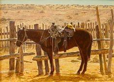 9x12 Ready, Willing and Dormido, pintura original del artista George Lockwood   DailyPainters.com
