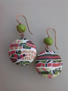 Polymer Clay Earrings, Lentils, Color Combos, Earrings Handmade, Design Inspiration, Drop Earrings, Christmas Ornaments, Tutorials, Polymers