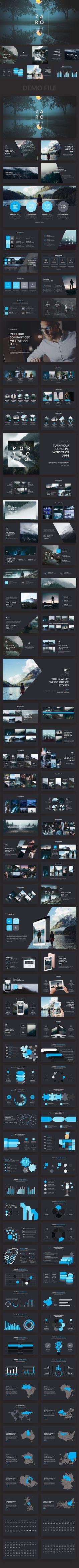 Zaro Premium Keynote Template - Creative Keynote Templates