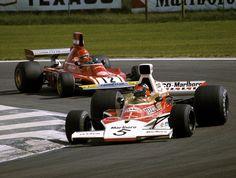 #5 Emerson Fittipaldi (Bra) - McLaren M23 (Ford Cosworth V8) 1 (4) Marlboro Team Texaco #12 Niki Lauda (Aut) - Ferrari 312B3 (Ferrari F12) 2 (3) Scuderia Ferrari SpA Sefac