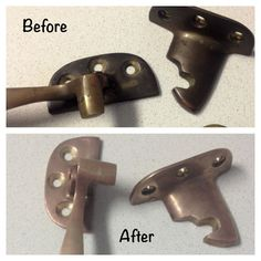 DIY: Cleaning brass hardware naturally #diy #furniture