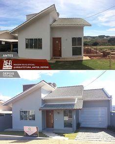 A imagem pode conter: casa céu e atividades ao ar livre Fachadas de casas terreas Fachadas de casas Projetos de casas simples