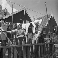 Wasdag op Marken 1947 #NoordHolland #Marken