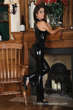 Latex Girls, Sexy Latex, Girls Dresses, Formal Dresses, Pvc, Skin Tight, White Girls, Leather Pants, Trousers
