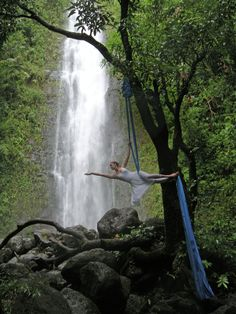 Inside is too mainstream. I want to try hanging the silk to a tree! In front of a waterfall!!!Whoa! :)