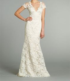 Hey, I found this really awesome Etsy listing at https://www.etsy.com/listing/172558654/v-neck-lace-wedding-dress-2014-with