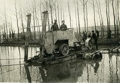 Belgium WWI Yser Front Naval Fusiliers with Armored Car. Meurisse 1915