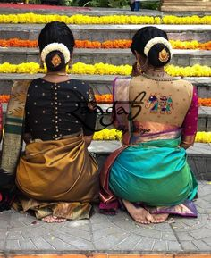 #SouthIndianBride #TheBride #Wedding #WeddingMoment #IndianBride #IndianGroom #SouthIndianWedding #Instagram #InstaDaily #InstaLove #WeddingInspiration #BridalInspiration #WeddingWebsite #IndianWeddingBlog #SouthIndianWeddingBlog #insta #Ezwed #EzwedBride #BridalBlouses #BridalGuide #weddingdecor #bridalhairstyle #bridaljewelry #bridesofinstagram #weddingphotography #BridalTribe #BridalForum #BridalInspo #Inspo Less Silk Saree Blouse Designs, Saree Blouse Patterns, Fancy Blouse Designs, Designer Blouse Patterns, Bridal Blouse Designs, Blouse Neck Designs, Saree Hairstyles, Bridal Hairstyles, Indian Hairstyles