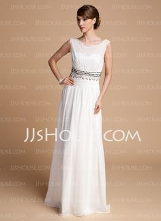 Mother of the Bride Dresses - $136.99 - A-Line/Princess Scoop Neck Floor-Length Chiffon Charmeuse Mother of the Bride Dresses With Ruffle Beading (008014713) http://jjshouse.com/A-line-Princess-Scoop-Neck-Floor-length-Chiffon-Charmeuse-Mother-Of-The-Bride-Dresses-With-Ruffle-Beading-008014713-g14713