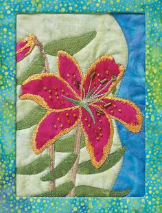 from Applique The basics & beyond by Janet Pittman. This award-winning book covers everything you need to know to applique by hand or by machine, and lots of techniques for embellishing your applique blocks, too! Find it online: http://landauerpub.com/Applique-The-basics-beyond.html