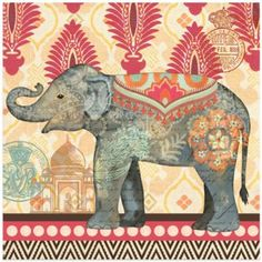 Caravan Elephants III Wall Art - BedBathandBeyond.com